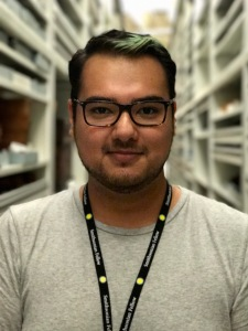 Jonathan Cortez in Collections at the Cultural Resource Center of the NMAI