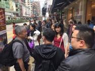 Photo by Kara Noto. Professor Oscar Ho (CUHK) giving tour to Public Humans.