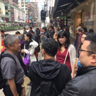 Photo by Kara Noto. Professor Oscar Ho (CUHK) giving tour to Public Humans.