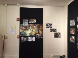 Photo By Jonathan Cortez. Police brutality wall at JNBC.