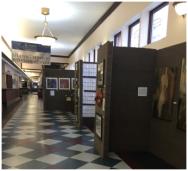 Photo by Kara Noto. Exhibit at URI Feinstein Campus.