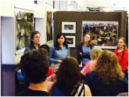 Photo by Susan Smulyan. Gallery night presentation at URI Feinstein Campus.